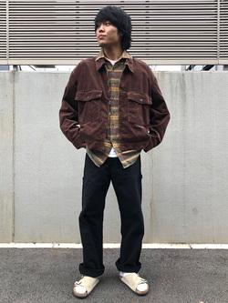 アミュプラザおおいた店のRyutaさんのLeeの【セットアップ対応】チェトパ ジャケットを使ったコーディネート