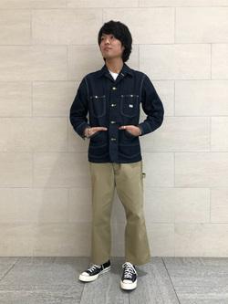 アミュプラザおおいた店のRyutaさんのLeeのカバーオールジャケットを使ったコーディネート