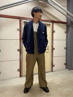 ららぽーと横浜のDaisukeさんのLeeのビッグポケット シャツジャケットを使ったコーディネート