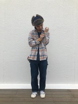 原宿店のEiichiさんのLeeのARCHIVES 50s 11W  ペインターパンツを使ったコーディネート