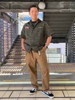 DENIM GALAXY日暮里店のTOMMYさんのEDWINの【SALE】歩クール イージーパンツ レギュラーテーパードを使ったコーディネート