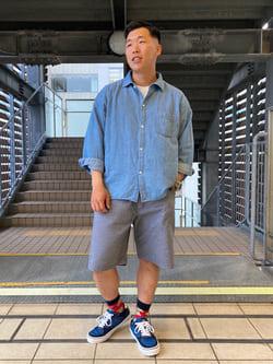 DENIM GALAXY日暮里店のTOMMYさんのEDWINの【SALE】歩クール イージーショートパンツを使ったコーディネート