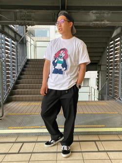 DENIM GALAXY日暮里店のTOMMYさんのEDWINの【SALE】【ユニセックス】EDWIN x 鎌田かまを アーティストコラボTシャツを使ったコーディネート