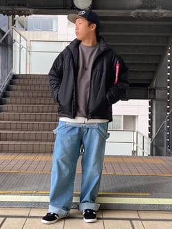 DENIM GALAXY日暮里店のTOMMYさんのALPHAの【期間限定10%OFF】THERMOLITE パフジャケットを使ったコーディネート