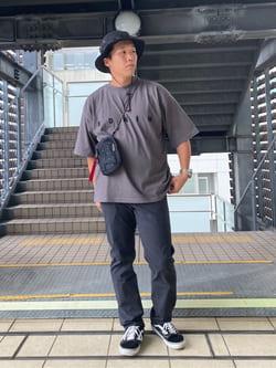 DENIM GALAXY日暮里店のTOMMYさんのEDWINのA KIND OF BLACK BIG FIT Tシャツを使ったコーディネート