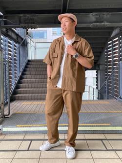 DENIM GALAXY日暮里店のTOMMYさんのEDWINの【SALE】歩クール イージー8ポケット 半袖シャツを使ったコーディネート