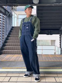 DENIM GALAXY日暮里店のTOMMYさんのALPHAのM-65ポケット ビッグシルエット 長袖Tシャツを使ったコーディネート