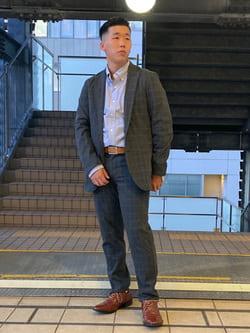 DENIM GALAXY日暮里店のTOMMYさんのEDWINのデニスラ テーラードジャケットを使ったコーディネート