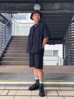 DENIM GALAXY日暮里店のTOMMYさんのEDWINの終了【ガレージセール】歩クール イージー8ポケット 半袖シャツを使ったコーディネート
