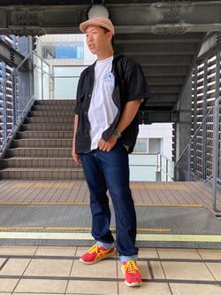 DENIM GALAXY日暮里店のTOMMYさんのEDWINの【再値下げSALE】歩クール イージー8ポケット 半袖シャツを使ったコーディネート