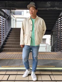 DENIM GALAXY日暮里店のTOMMYさんのEDWINのデニムポケット クルーネック 半袖Tシャツを使ったコーディネート