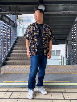 DENIM GALAXY日暮里店のTOMMYさんのEDWINの【SALE】アロハ 半袖シャツを使ったコーディネート