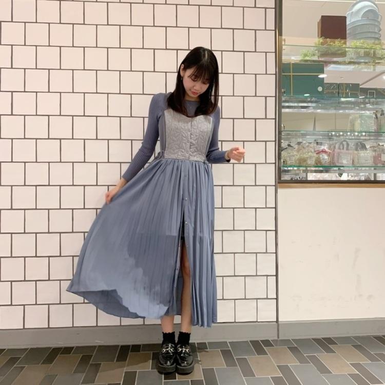 花柄ジャガードオーバースカート付きサロペット