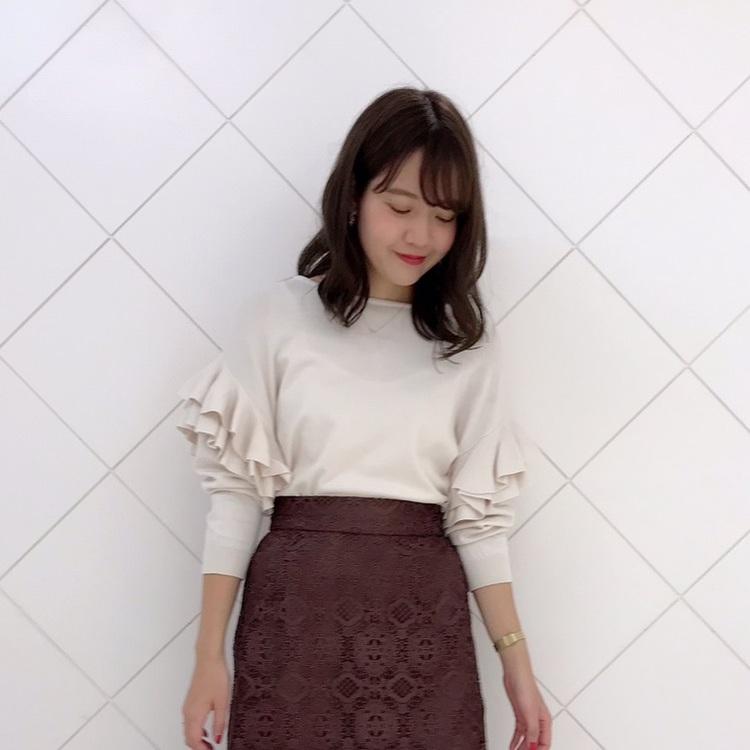 ラフィア風3Dフラワースカート